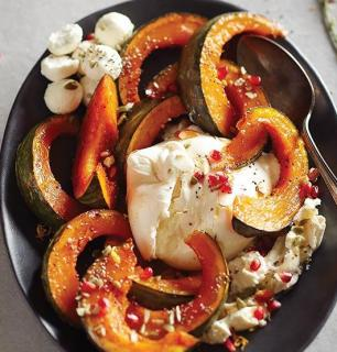 Honey-roasted squash