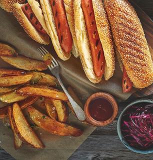 quartiers de pommes de terre frits au four