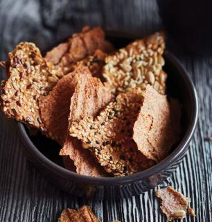 Flaxseed chips (not fried)