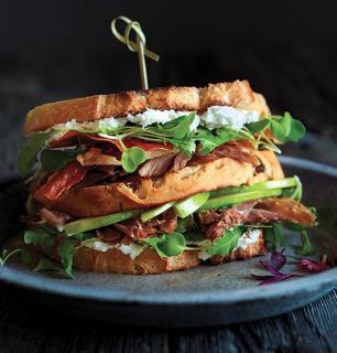 Club sandwich au canard