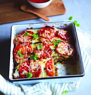 lasagne d'automne aux  légumes et au tofu