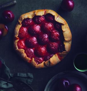 tarte fleur aux prunes