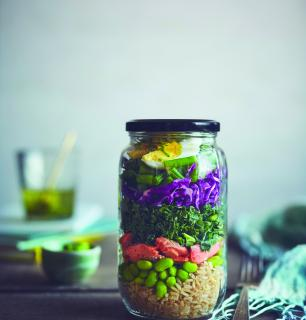 salade en pot protéinée