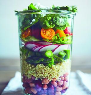 salade en pot végé