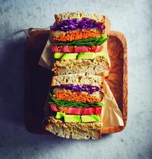 méga sandwich végé à emballer,  pour 2