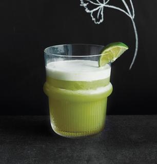 pisco sour coriandre, lime et agave