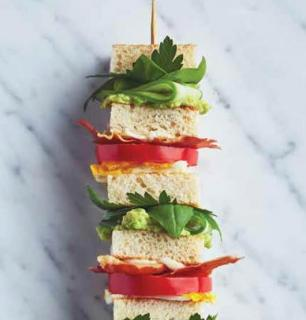 club-sandwich en brochette