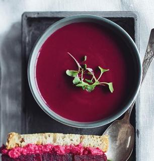 potage de légumes rouges