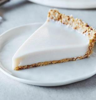 coconut milk pie, panna cotta–style